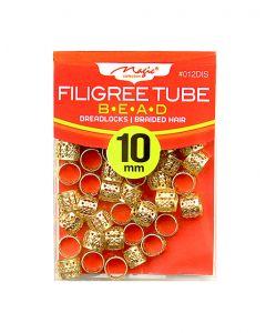 Magic Filigree Braid/Dread Tube 10M - Gold
