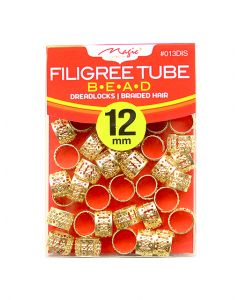 Magic Filigree Braid/Dread Tube 12M - Gold