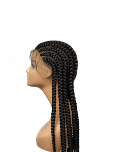 """Large 30"""" Feed-in Cornrow Lace Wig"""