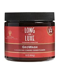 As I Am Long & Luxe Gro Wash 16 oz.