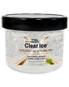 Ampro Clear Ice Coconut Oil Styling Gel 12 oz.