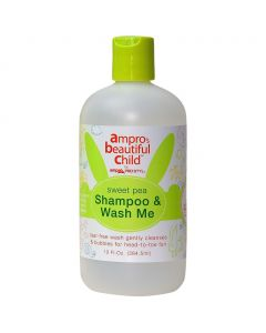 Ampro Beautiful Child Sweet Pea Shampoo & Body Wash 13 oz.