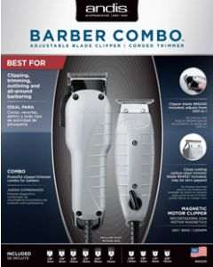 Andis Clipper Barber Combo White