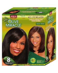 African Pride No-Lye Kit Touch 8 Applications - Regular