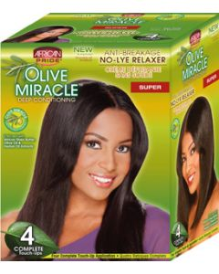 African Pride No-Lye Kit Touch 4 Applications - Super