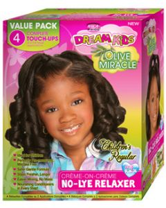 African Pride Dream Kids No Lye Kit 4 Applications - Regular