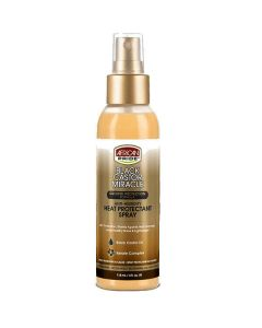 African Pride Black Castor Heat Protectant Spray 4 oz.
