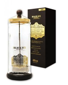 Black Ice Glass Sanitizing Disenfectant Jar 48 oz.