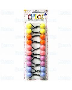 Chloe Ponytail 20 MM Balls - 10 Pieces Assorted Pastel