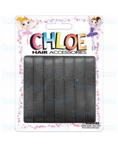 "Chloe Hair Ribbons 3/8"" 7 Pieces Per Pack Black"