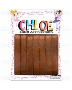 "Chloe Hair Ribbons 3/8"" 7 Pieces Per Pack Brown"