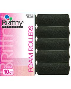 Brittny Roller Foam-Black 10Ct L - 1""