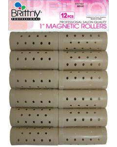 """Brittny Roller Magnetic-Beige 12Ct - 1"""""""