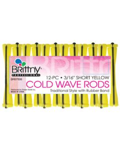 Brittny Rod Cold Wave Short-Yellow 12Ct - 0.1875""