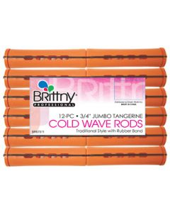 "Brittny Rod Cold Wave Jumbo-Tangerine 12Ct - 0.75"""