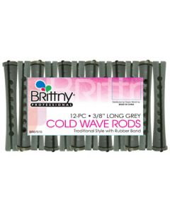 """Brittny Rod Cold Wave Long-Gray 12Ct -  0.375"""""""