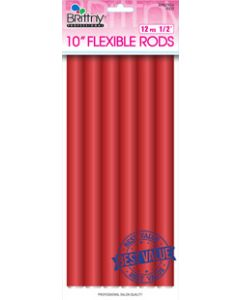 "Brittny Rod Flex 10"" V/P Red 12Ct - 1/2"""