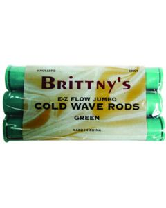Brittny Rod Cold Wave Green Jumbo 6Ct
