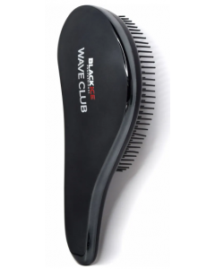 Black Ice Shampoo Wave Brush - Metallic Black
