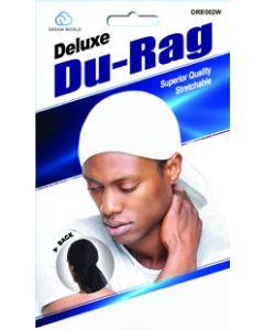 Dream Men's-Durag Deluxe White