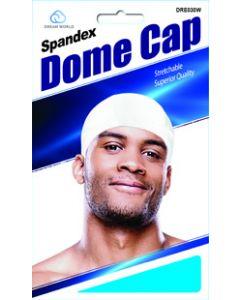 Dream Men's-Dome Cap Spandex White