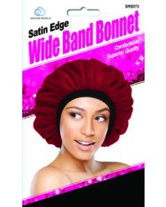 Dream Women's-Satin Wide Band Bonnet Black