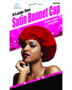 Dream Women's-Satin Bonnet Cap Black