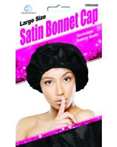 Dream Women's-Satin Bonnet Cap L Black