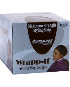 Wrapp-It Styling Strips - Black (40 Strip Box)