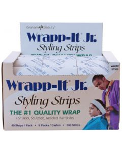 Wrapp-It Jr. Styling Strips - White (360 Strip Carton)
