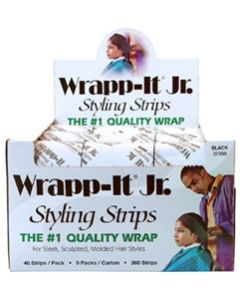 Wrapp-It Jr. Styling Strips - Black (360 Strip Carton)