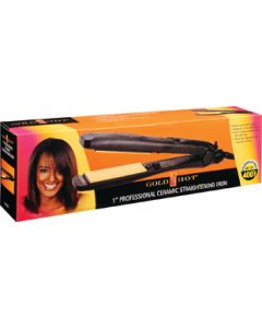 Gold N Hot Flat Iron Ceramic 1""