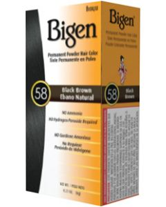 Bigen 58 Hair Color Black Brown