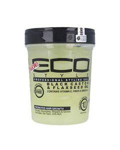 Eco Black Castor Oil & Flax Seed Styling Gel 16 oz.