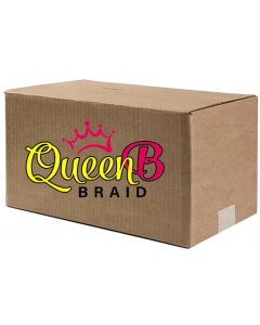 "Queen B 50"" Pre-Stretched Braiding Multi Color 120 Piece Case"