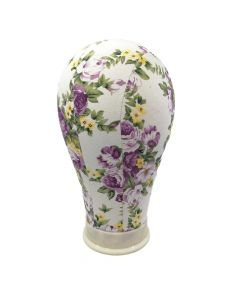 "Canvas Mannequin Head 23"" - Floral Print"