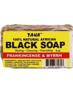 Taha Black Soap Frankincense & Myrrh