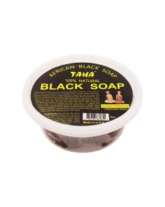 Taha Black Soap Frankincense & Myrrh Tub 8 oz.