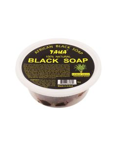 Taha Black Soap Lemon Grass Tub 8 oz.