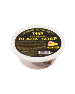 Taha Black Soap Mango Tub 8 oz.