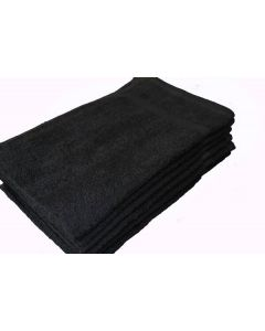 "Shop Towels 15"" x 25"" - Black (1 Dozen)"